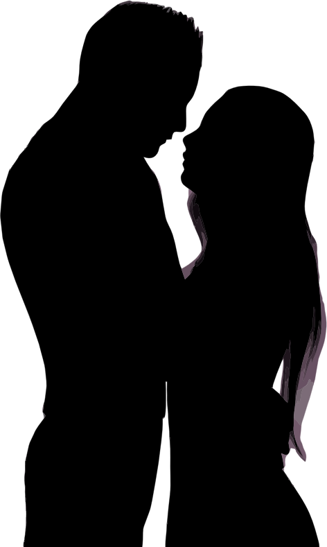 Couple transparent png. Clipart embracing silhouette medium