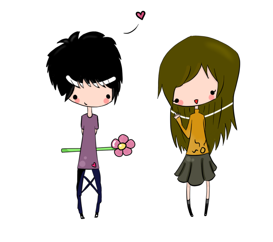 Couple tumblr png. Chibi by darknadin on