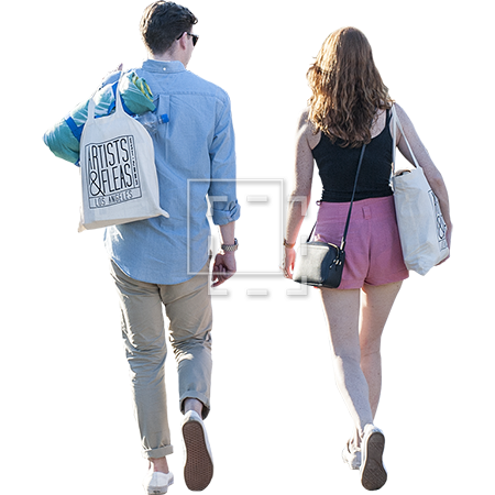 Couple walking away png. People a pair of
