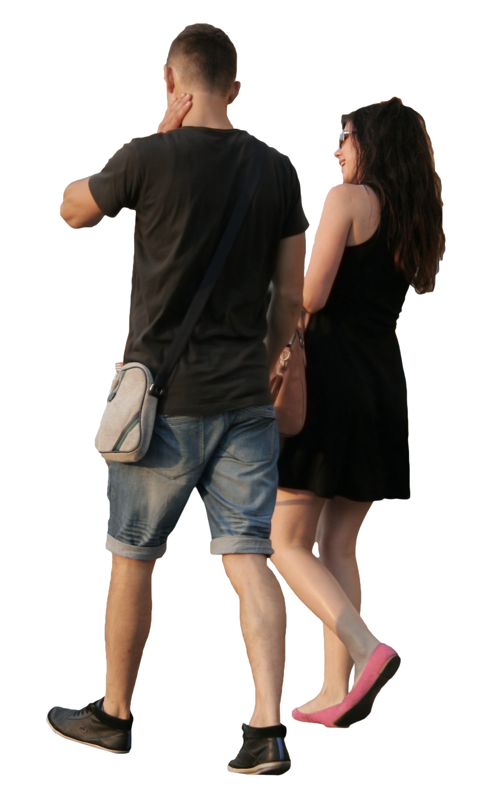 Couple walking png. Happy free cut out