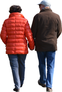 Couple walking png. Clipped oldcouplewalking