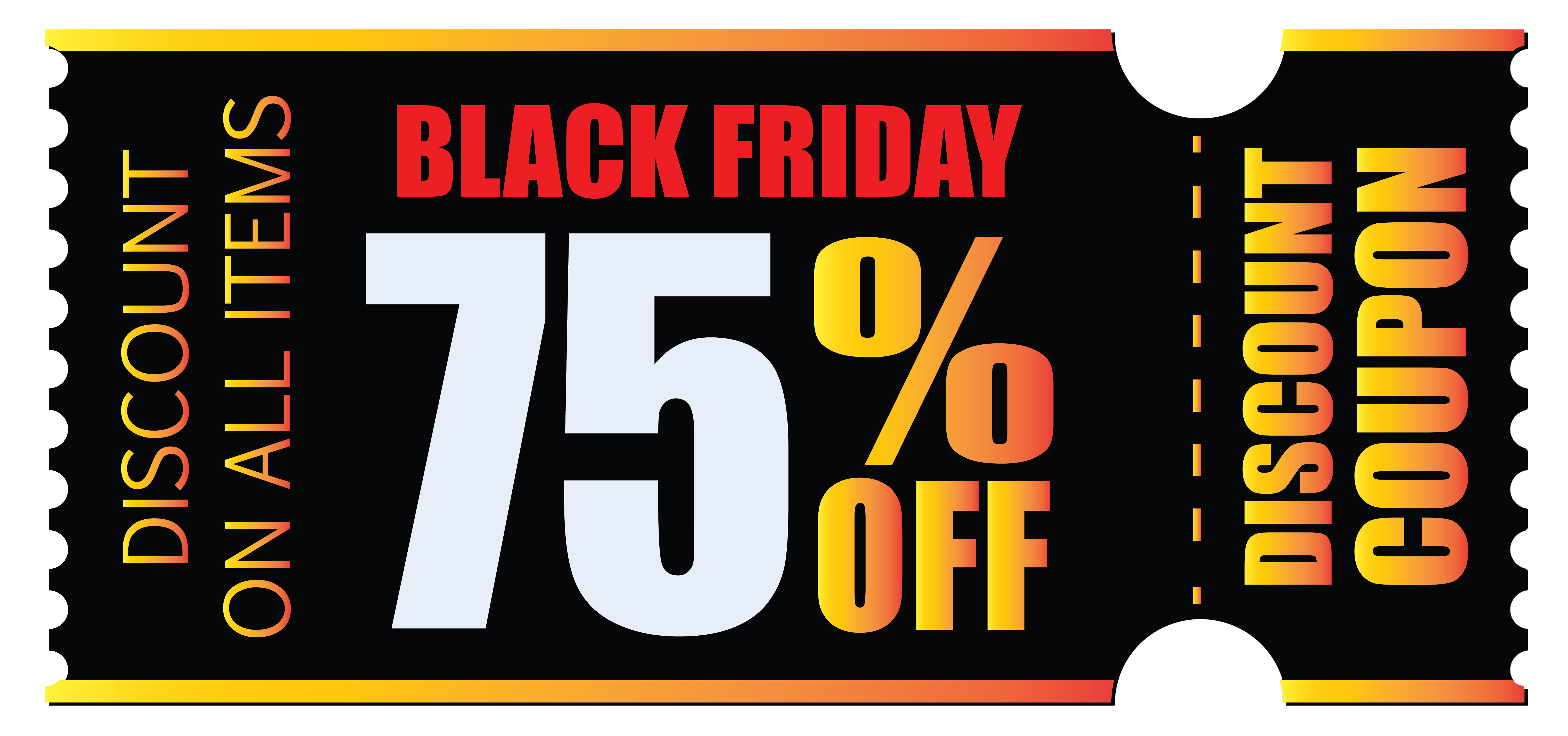 Coupon png. Black friday clipart picture