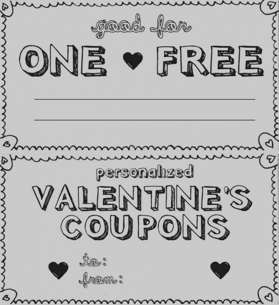 Coupon clipart love. Amazing free blank templates