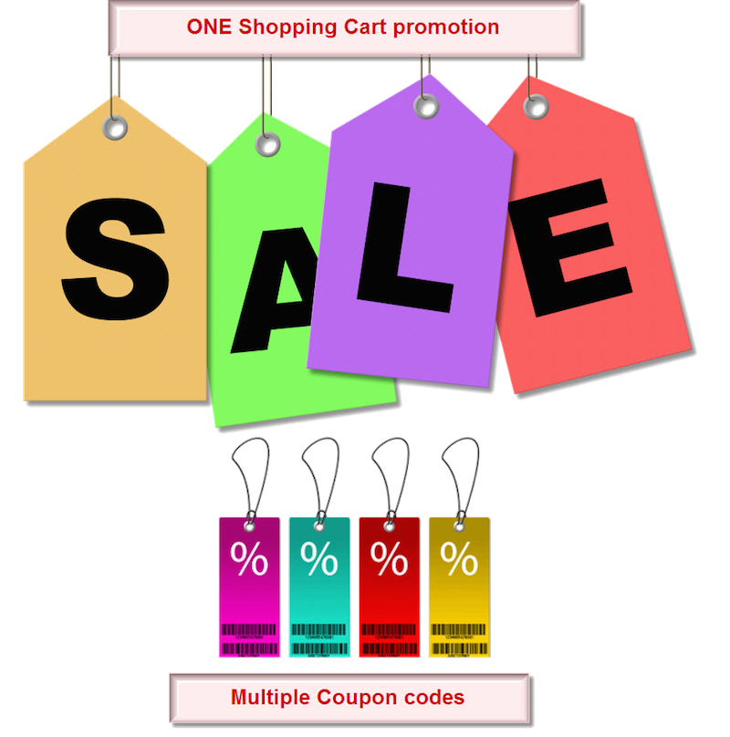 Coupon design png. How to manage multiple