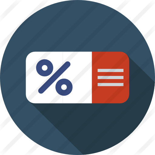 Coupon icon png. Voucher free commerce icons