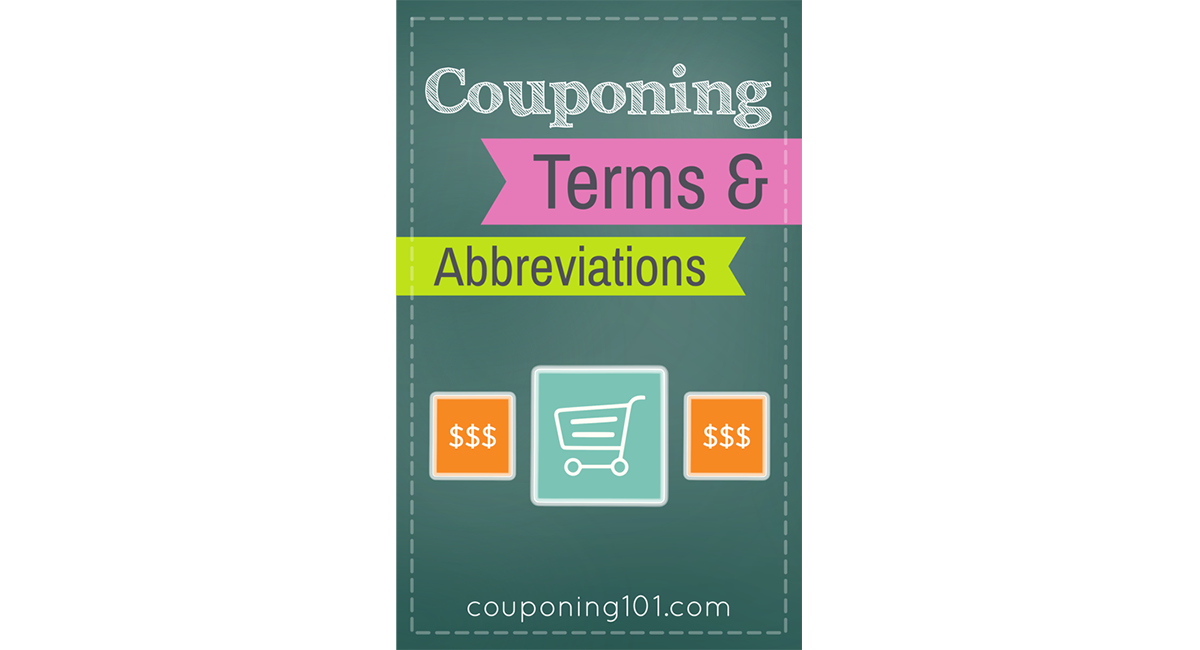 Coupon lingo png. Couponing terms and abbreviations
