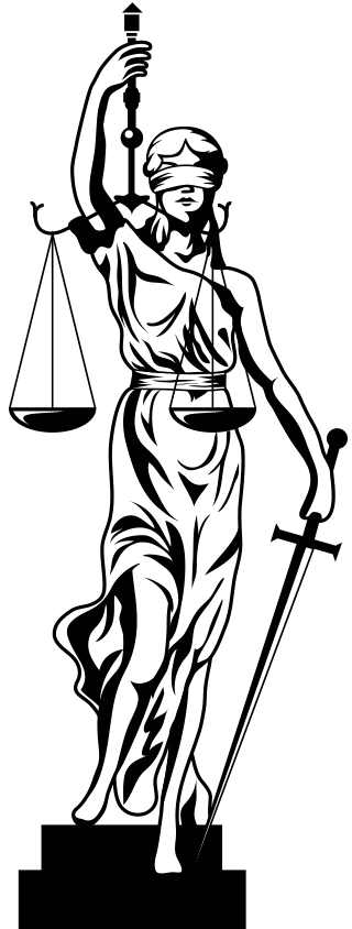 Drawing blind old. Lady of justice at