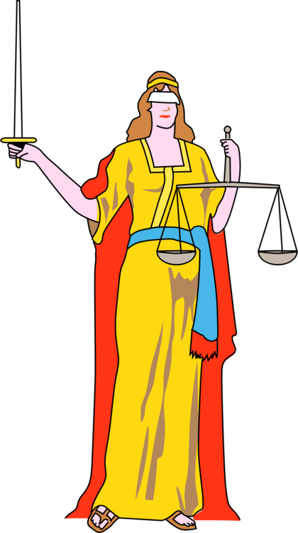 Court drawing blindfold. Download lady justice computer
