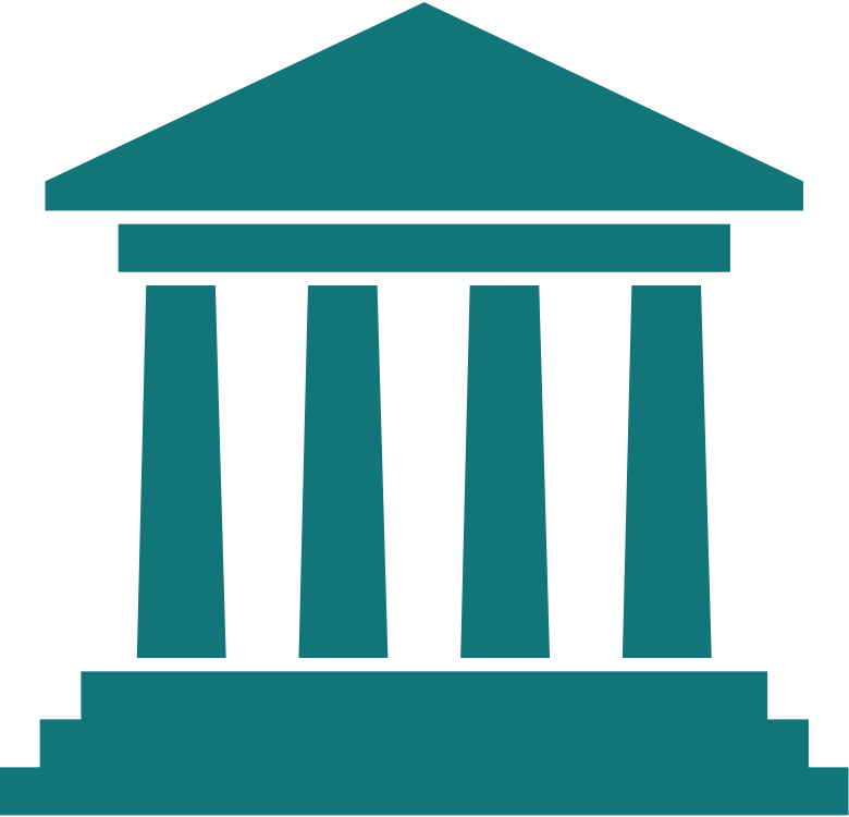 Court drawing judicial branch building. Collection of clipart