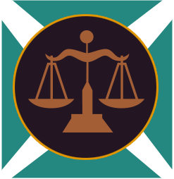 Court drawing libra zodiac. Sign of the