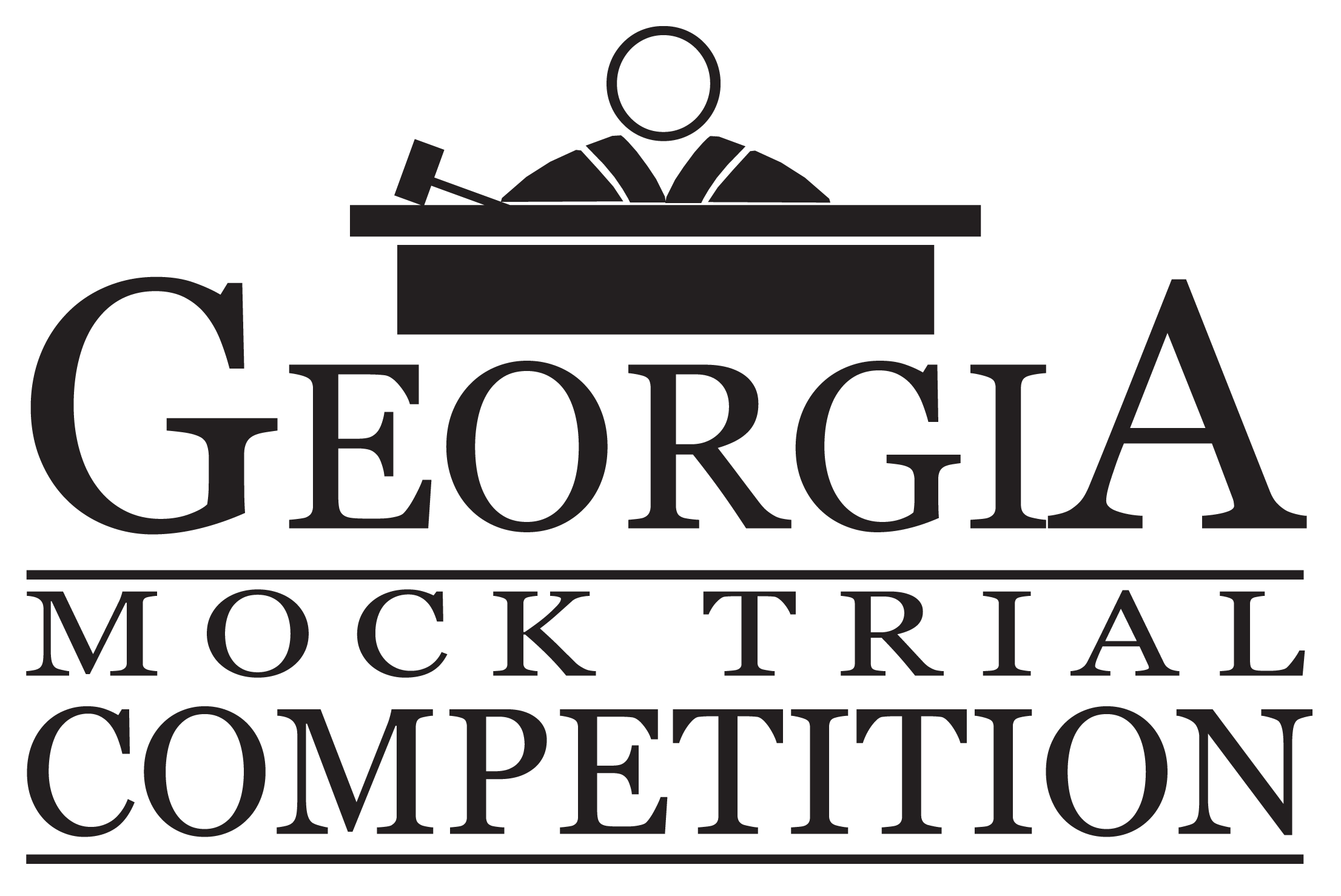 Court drawing mock trial. Georgia high school competition