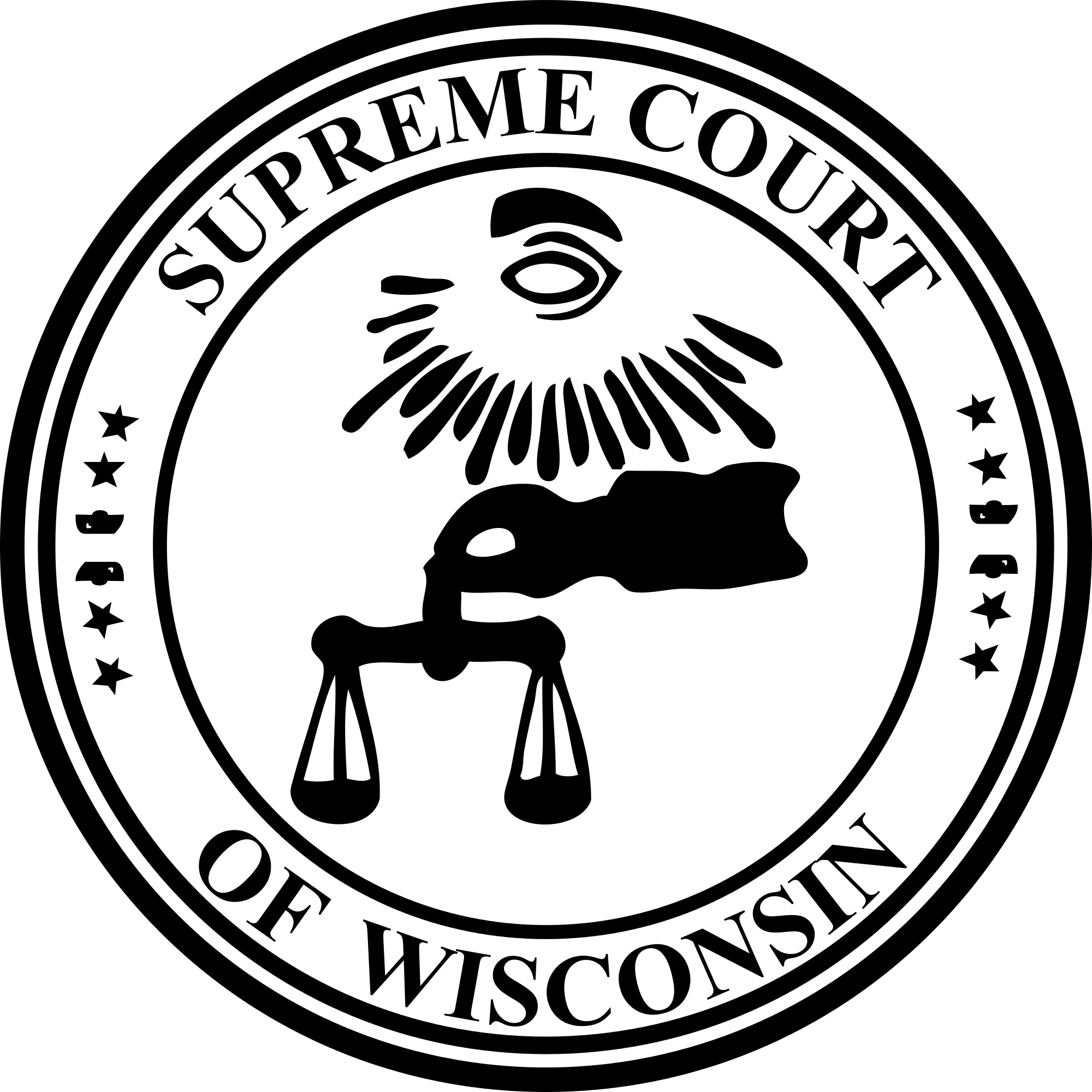 Courts svg seal. File of the supreme