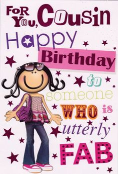Cousins clipart greeting person. Happy birthday lovely cousin