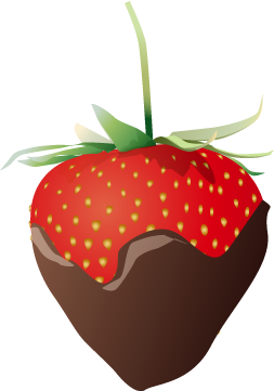 Covered clipart covered strawberry. Chocolate clip art borders