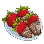 Covered clipart covered strawberry. Item chocolate strawberries by