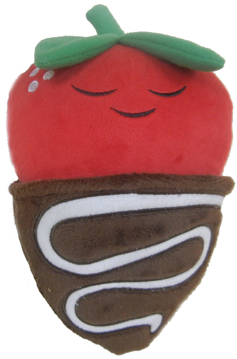 Covered clipart covered strawberry. Cute plush chocolate kimchi