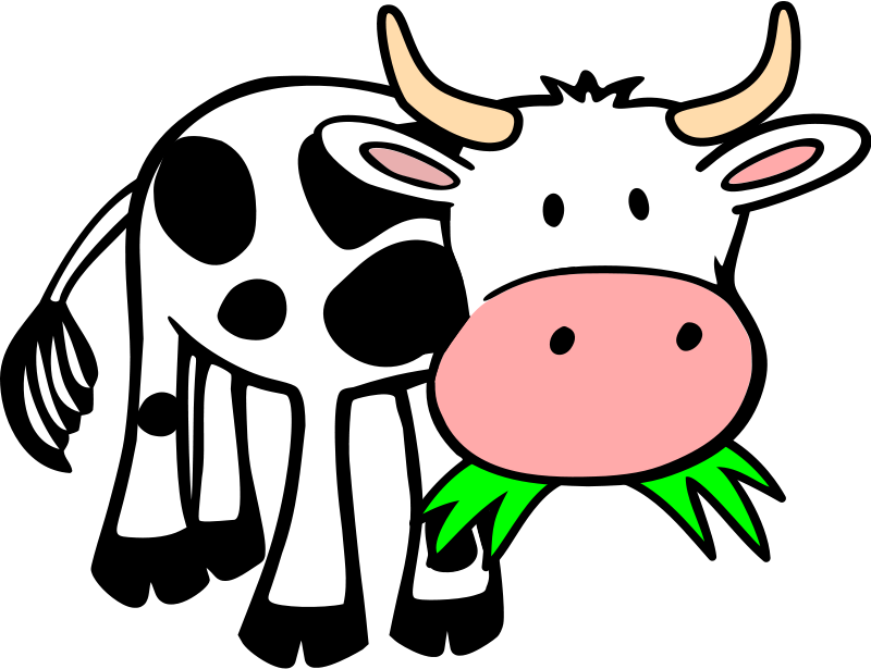Cow clip art. Cartoon clipart