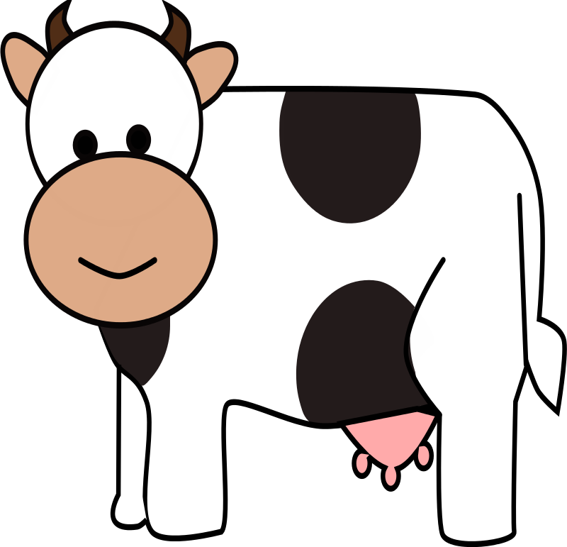 Cow clip art simple. Free to use public