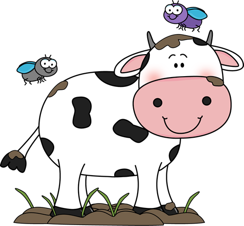 Cow clip art. Cute in the mud