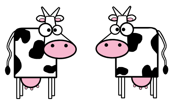 Cow clip art animated. Cartoon cows at clker