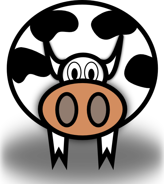 Cow clip art animated. At clker com vector