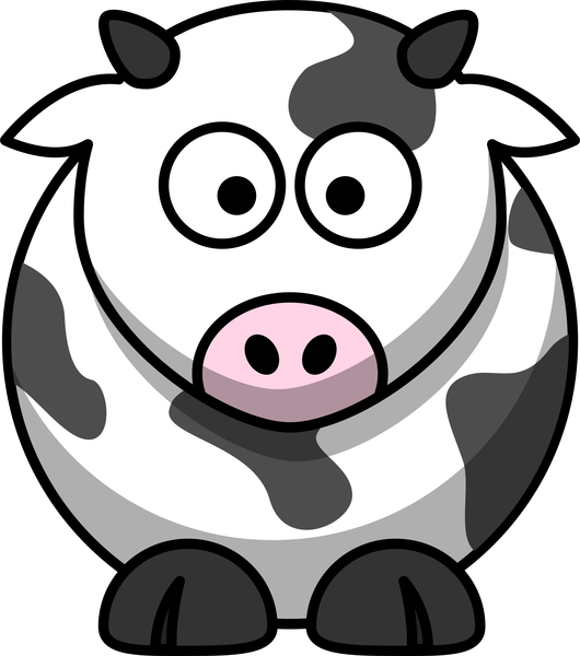 Cow clip art animated. Free cartoon images at