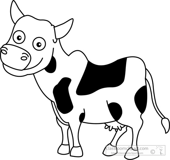 Cow clip art black and white. Clipart panda free images