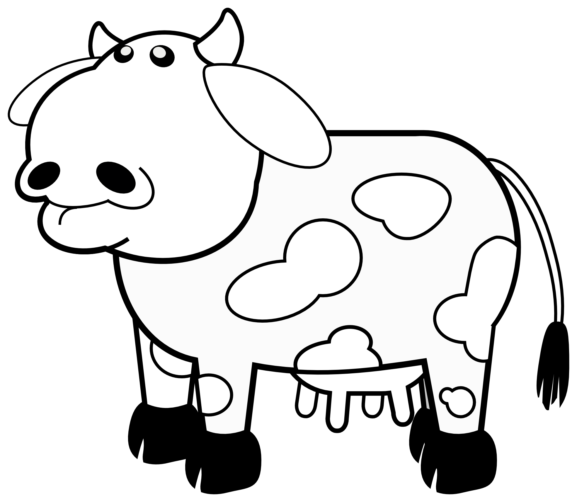 Armadillo clipart cute. Cow black and white