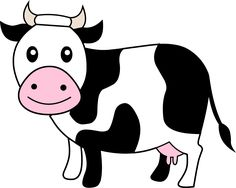 Cow clip art cartoon. Cartoons wallpaper brown clipart