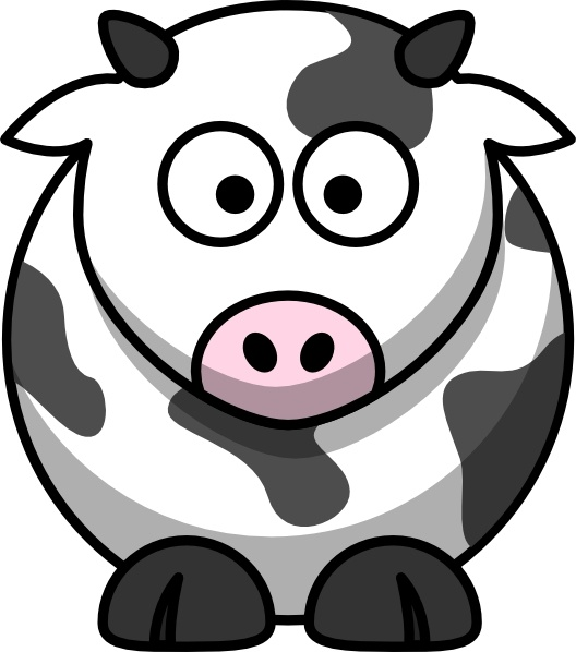 Cow clip art cartoon. Free vector in open