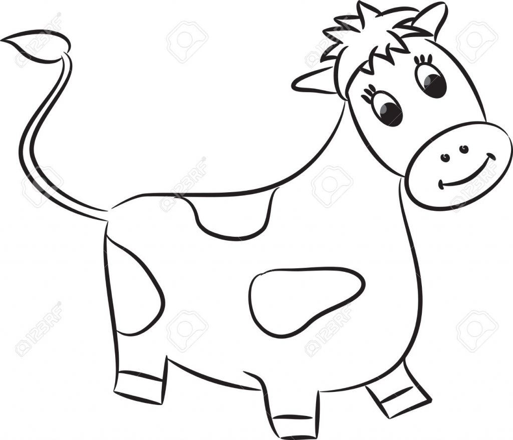 Cow clip art cartoon. Drawing at getdrawings com