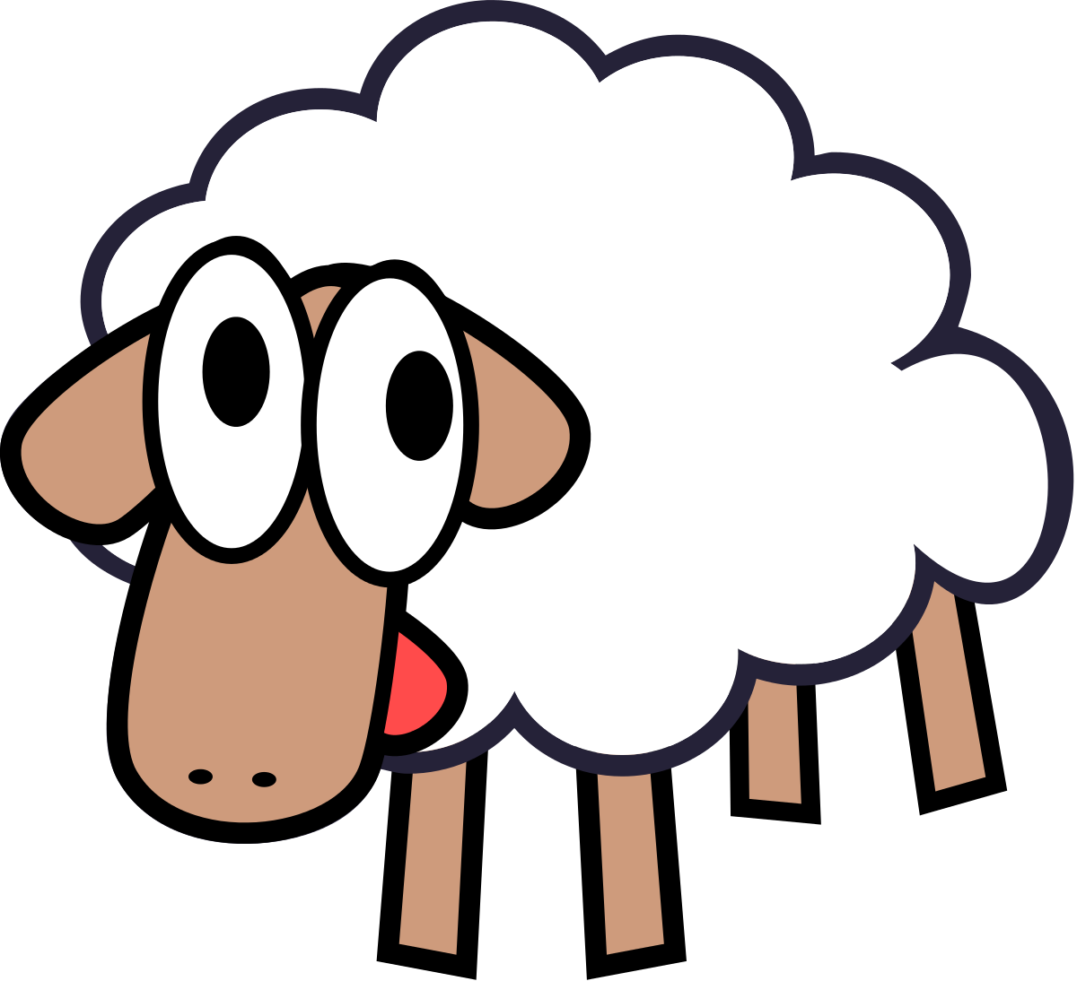 Cow clip art clear background. Cartoon clipart of sheep