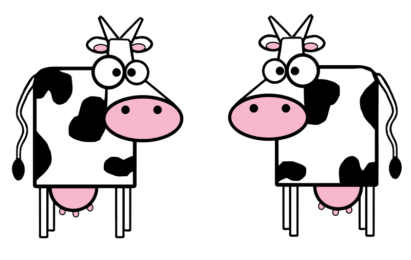 Cute png clipart panda. Cow clip art realistic picture black and white library