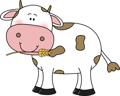 Cow clip art cute. Images with wheat in