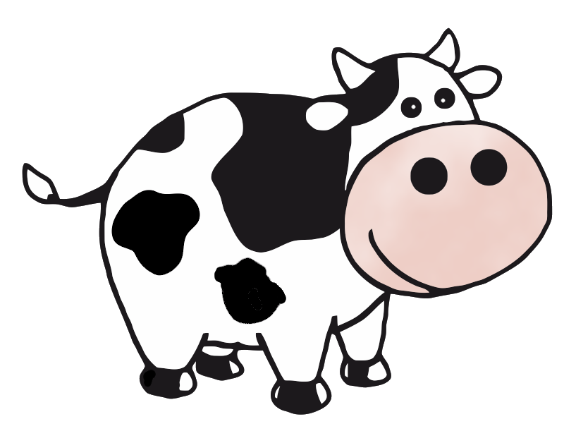Cattle vector dairy cow. Free pictures of download