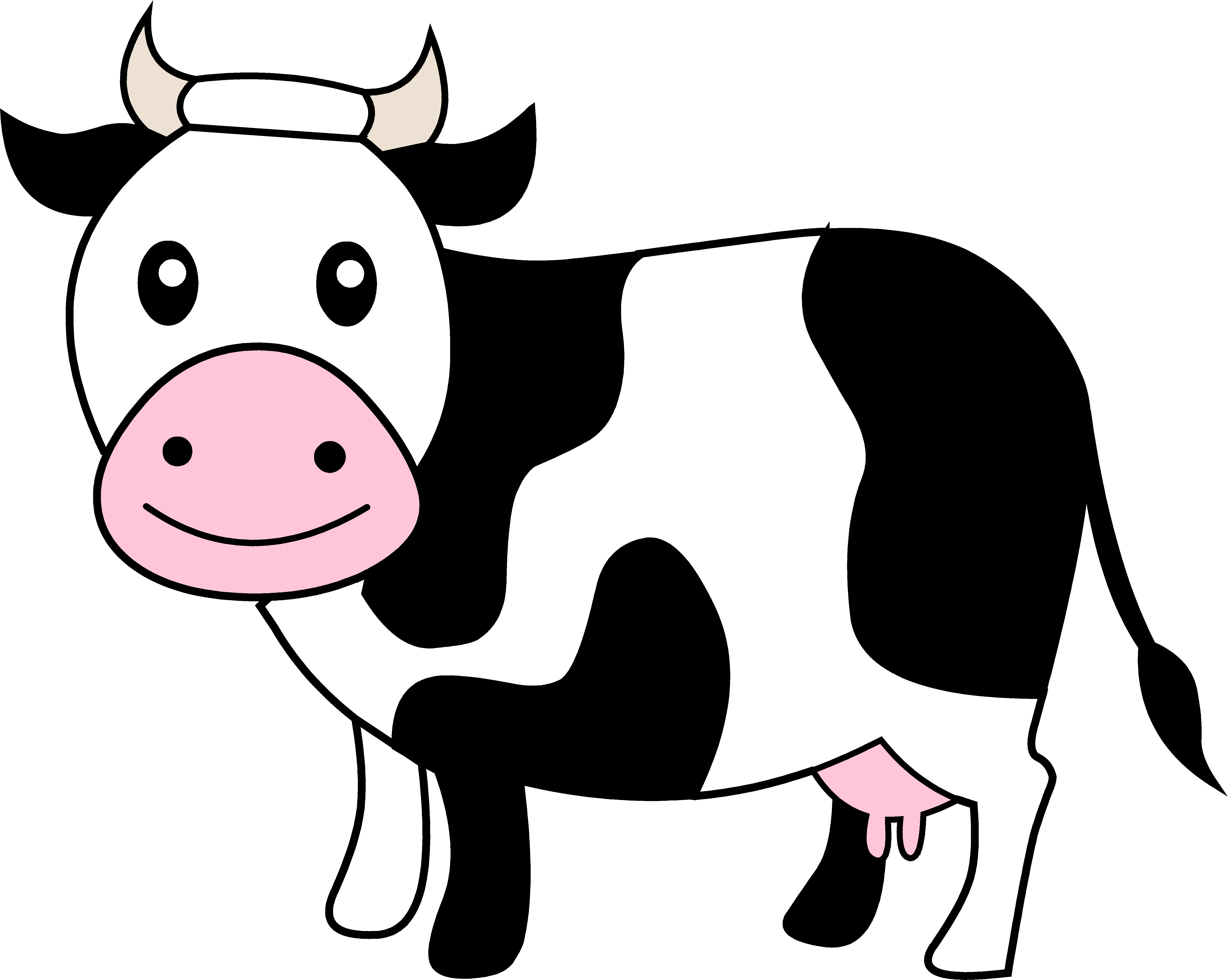 Cow clip art cute. Black and white dairy
