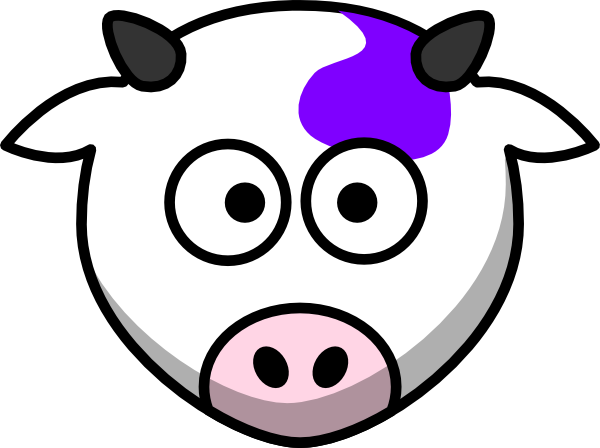 Cow clip art face. Purple at clker com