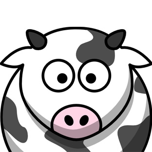 Cow clip art face. Cartoon faces