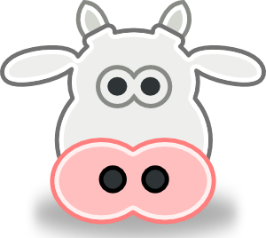 Cow clip art face. Scrapbook animals cartoon