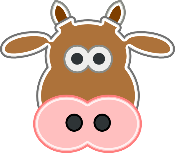 Cow clip art face. Free cliparts download on