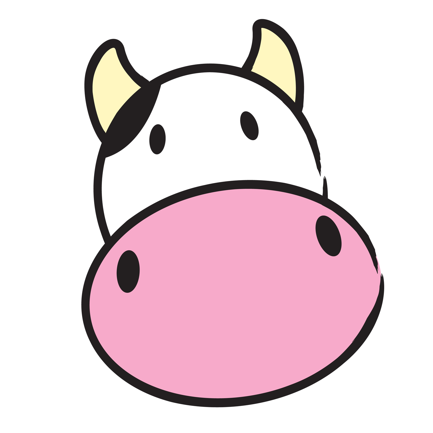 Free cliparts download on. Cow clip art face transparent library