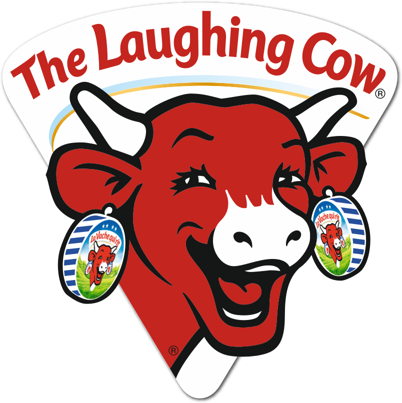 Cow clip art logo. The laughing our story