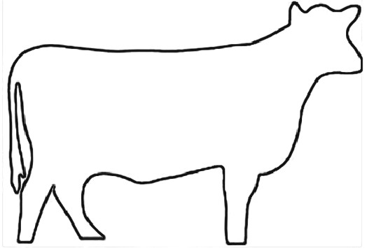 Free of a download. Cow clip art outline svg stock