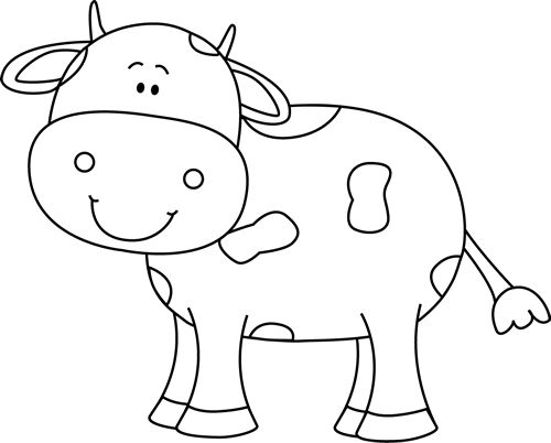 images of cute. Cow clip art outline vector transparent library