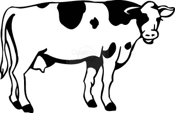 Clipart panda free images. Cow clip art outline banner library stock