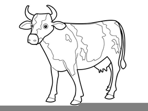 Drawing free images at. Cow clip art outline picture freeuse download