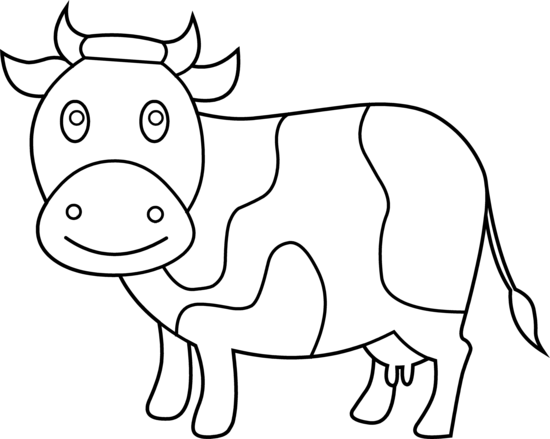 Free download on clipart. Cow clip art outline black and white