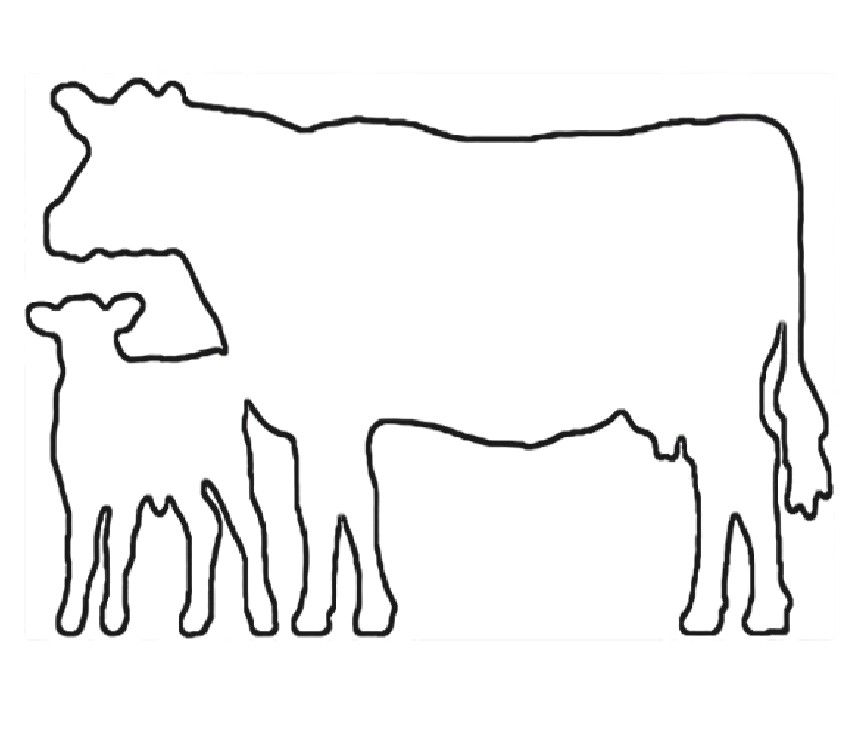 Cow clip art outline. Free of download on