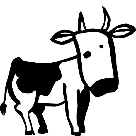 Cow clip art profile. Gentoo bot larry the