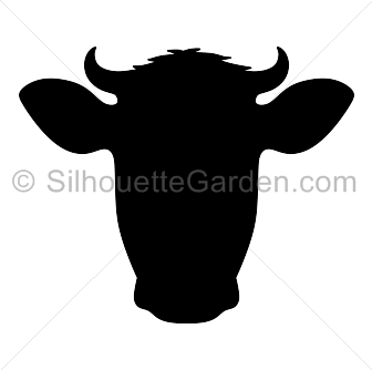 Cow clip art silhouette. Head download free versions